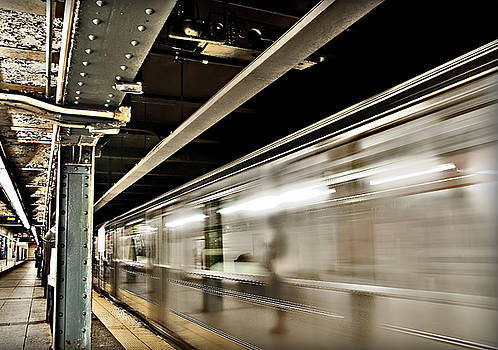 Subway Blur by Barry C Donovan