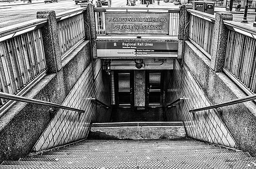 Subway Entrance - Pennsylvania Railroad Suburban Station by Bill Cannon