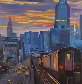 Subway in New-York City by Atelier B Art Studio