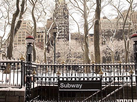 Subway Snow by Andrew Kazmierski