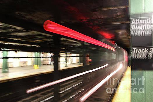 Subway train motion blur by Nidhin Nishanth