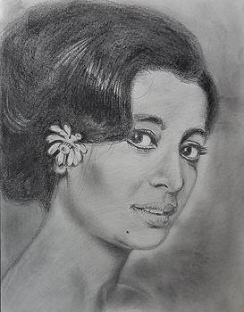 Suchitra Sen by Manju Chaudhuri