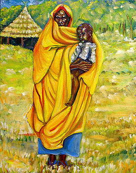 Sudanese mother and child by George Chacon