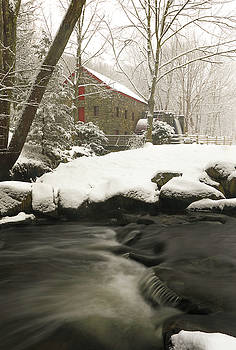 Sudbury Grist Mill Winter by Juergen Roth