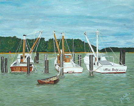 Suffolk Fishing Boats by John Schuller