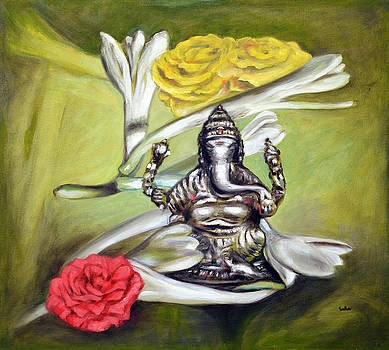 Sugandhraj Ganesha with Roses by Usha Shantharam