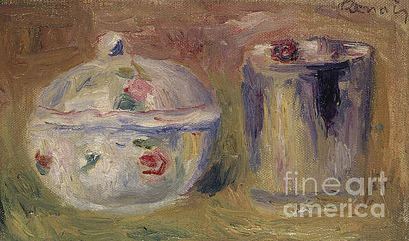 Pierre Auguste Renoir - Sugar bowl and Beaker