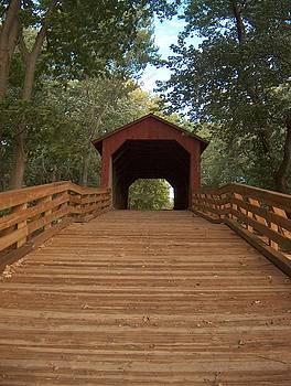 Sugar Creek Covered Bridge Sangamon County Illinois by Denise   Hoff