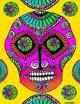 Sugar Skull Amarillo by Lydia L Kramer