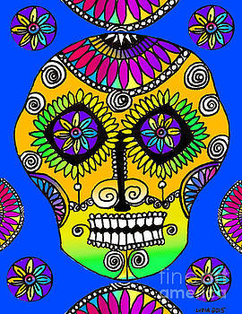 Sugar Skull Azul by Lydia L Kramer