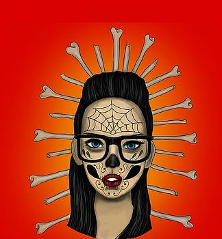 Sugar Skull Girl by Niklas  Bates