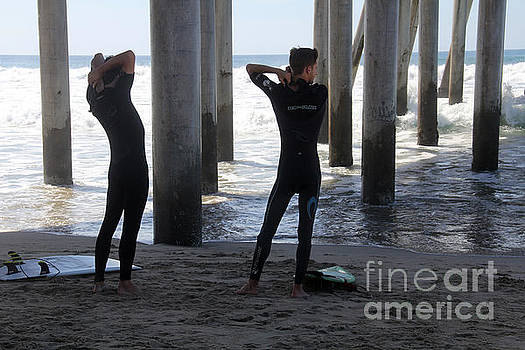 Suiting Up Huntington Beach by Linda Queally