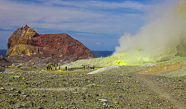 Venetia Featherstone-Witty - Sulphur on Whakaari White Island Volcano