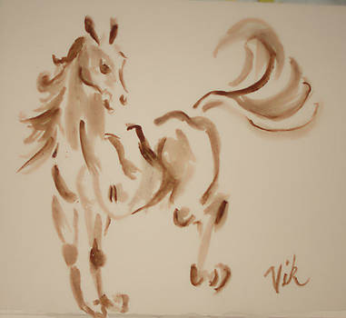 Sumi Horse by Lyn Vic
