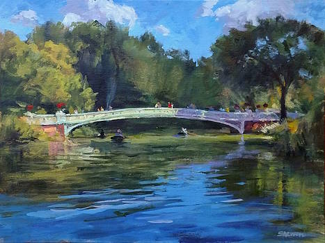 Summer Afternoon on The Lake, Central Park by Peter Salwen