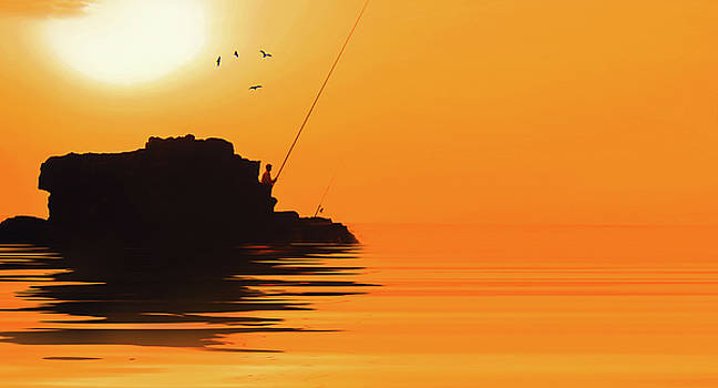 Fishing  by Ahmed Shanab