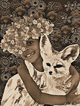 Summer and the Fox in Sepia by Iowan Stone-Flowers