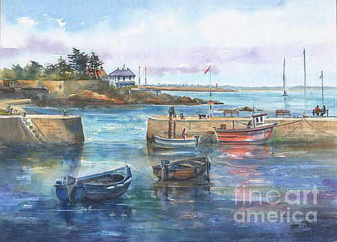 Summer at Bulloch Harbour Dalkey by Kate Bedell