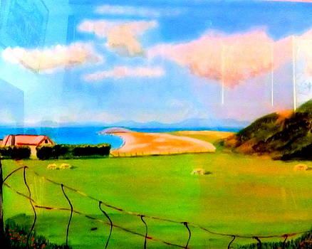 Summer at Rhossili Bay by Rusty Woodward Gladdish