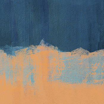 Summer Beach Abstract Orange Blue by Menega Sabidussi