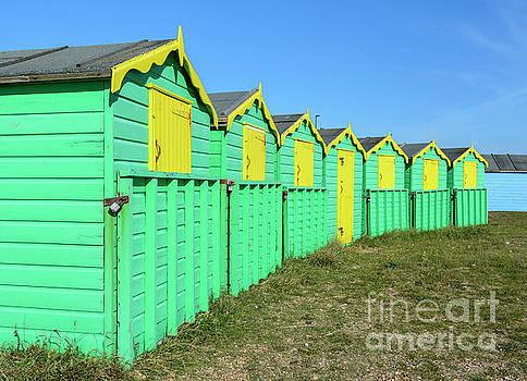 Summer Beach Huts by Geoff Smith