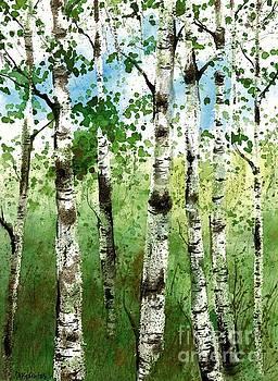 Summer Birches by Diane Splinter