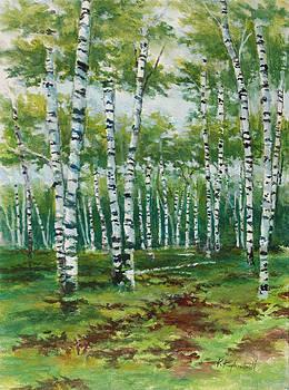 Summer Birches by Kerry Kupferschmidt