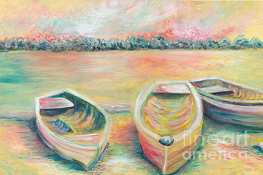Summer Boats in Yellow by Nadine Rippelmeyer