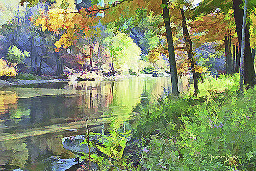 Summer Day by the Rocky River by Norman Drake