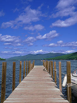 Summer Day on Lake George in the Adirondacks by Linda Ouellette