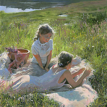 Summer Day on the Grass  by Denis Chernov