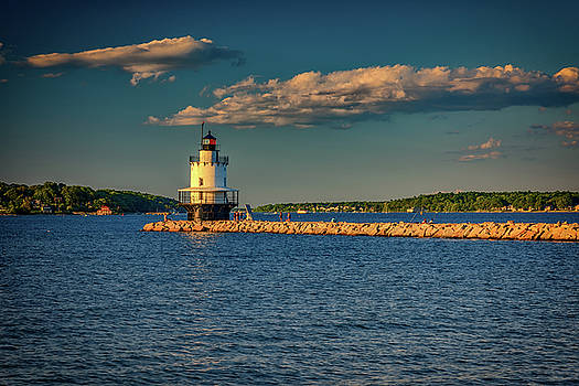 Summer Evening at Spring Point Ledge Lighthouse by Rick Berk