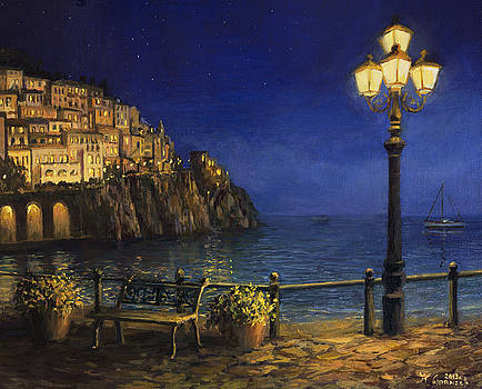 Summer Evening in Amalfi by Kiril Stanchev