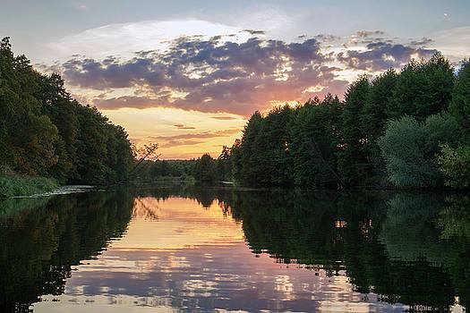 Summer evening on Snov river. Sedniv, 2015. by Andriy Maykovskyi