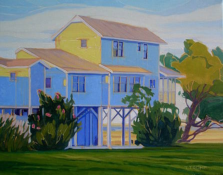 Summer Home at Sunset by Teresa Tromp