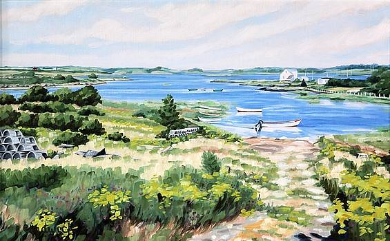 Summer in Lunenburg Harbour by Phil Chadwick