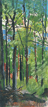 Martin Stankewitz - summer in the forest plein air oil pastel study