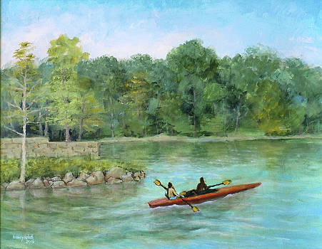 Summer Kayaking at Lake Needwood by Nancy Heindl