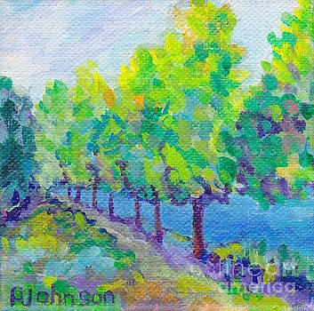 Peggy Johnson - Summer Lake Walk - Miniature Painting