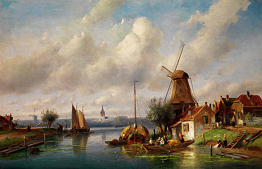 Summer Landscape by Charles Henri Joseph Leickert