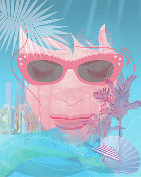 Woman's face in Miami by Lisa Henderling