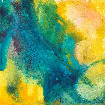 Summer Midday Abstract Painting by Yevgenia Watts