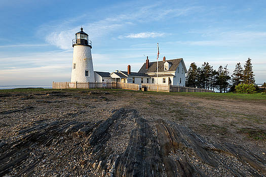 Summer Morning at Pemaquid Point by Jesse MacDonald