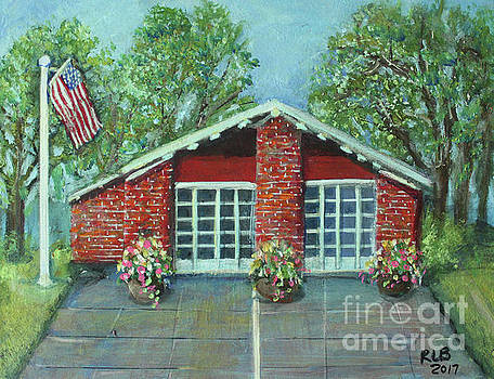 Summer Morning at Trapelo Road Fire Station by Rita Brown