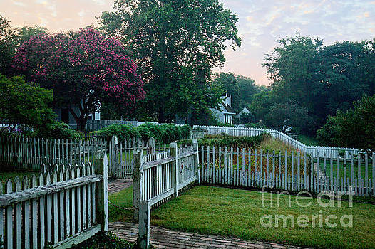 Summer Morning in Colonial Williamsburg by Rachel Morrison