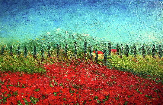Summer of Poppies by Inga Leitasa ArtBonBon