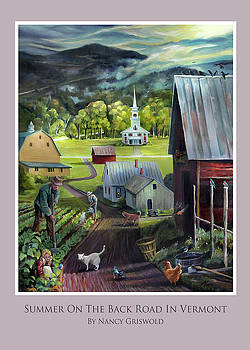 Summer On The Back Road In Vermont Card by Nancy Griswold