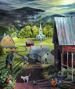 Summer on the Back Road in Vermont by Nancy Griswold