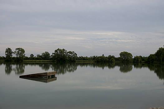 Summer on the Pond at Dusk by Samantha Boehnke