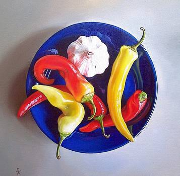 Summer plate 1 by Elena Kolotusha